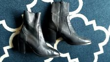 TOPSHOP Magnificent black leather ankle sock booties Size 38 US 7.5 UK 5.5 - 6