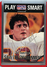 Pro Set 1992 #355 Signed Mark Schlereth  NFL Football Trading Card RC Z4