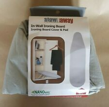 Stow away In-Wall Ironing Board Cover & Pad New
