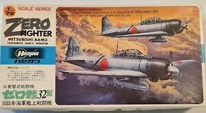 Hasegawa 1/72 Mitsubishi A6M3 Zero Fighter Model Kit