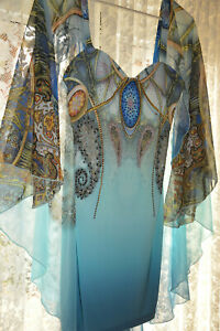 NWT **ROBERTO CAVALLI *** STUNNING FITTED DRESS SZ L** made in ITALY
