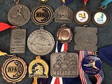 100th 101st Boston Marathon Medal 1996 1997 Jimmy Stewart 13 Medal Lot 1st Gold