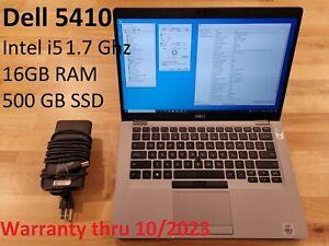 """Dell Latitude 5410 14"""" FHD Quad Core i5-10310U 1.7GHz 16GB 500GB SSD Windows 10"""