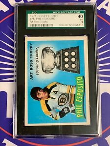 1971-72 O-Pee-Chee # 247 PHIL ESPOSITO Art Ross Trophy * SGC 40 - 3 VG
