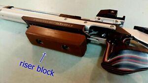 Rising block for shooting sport Anschutz Feinwerkbau holder handle wood lifter