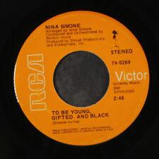 """NINA SIMONE: save me / to be young, gifted and black RCA 7"""" Single"""