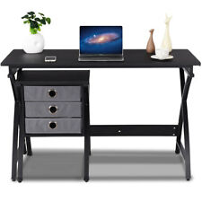 Computer Desk PC Laptop Table Writing Study Workstation Home Office w/ 3 Drawers