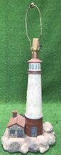 "New listing Vintage Large 34"" Maritime Plaster Lighthouse Table Lamp Light Ocean Coastal"