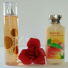 BATH AND BODY WORKS - MANGO MANDARIN - BODY LOTION &  MIST (SET) - NEW