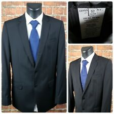 Versace Collection Mens 42L (52L Euro) Two Button Blazer Suit Jacket Black Wool