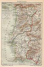 B0503 Portugal - Carta geografica d'epoca - 1904 Vintage map