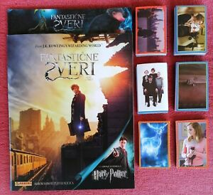 HARRY POTTER Fantastic Beast  2 in 1 Album PANINI + complete stickers set