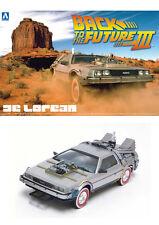 Aoshima 11874 1/24 Back To The Future Part III DE LOREAN w/ Railroad from Japan