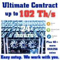 !!! ANY CONTRACT !!! Up to 102 Th/s for 24 Hours. BTC/DGB & any SHA256 coin.
