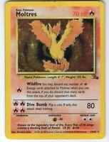 Moltres - Fossil Set - 12/62 - Holo-foil Rare - Collectible Pokemon Card - MP