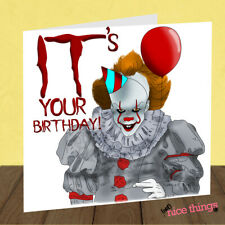 IT Clown Birthday Card, Funny Clown Birthday Card, Pennywise, Card for Him, Her