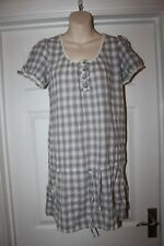 Check Dress Top Size 12 Ladies Grey and White Cotton Blouse Primark