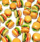 100 Dollhouse Miniature Cheese Burgers Set *Doll Mini Tiny Fast Food Hamburger