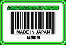 STICKER MADE IN JAPAN JDM IMPORT JAPANESE HONDA MITSUBISHI NISSAN S13 VTEC TRD