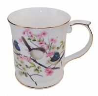 New Fine Bone China Australia Bird Blue Wren Coffee Tea Mug w Handle Cup  Boxed