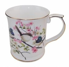 New Fine Bone China Australia Bird Blue Wren Coffee Tea Mug w Handle Cup  Boxed
