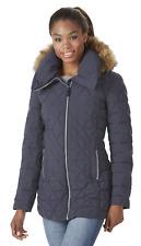 Marc NY Womens Plus Tobi Pyramid Hooded Puffer Jacket Ink 3X #NKGU6-924