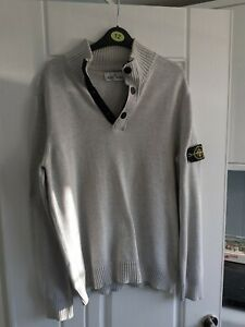 mens jumper from stone island size L  in grey