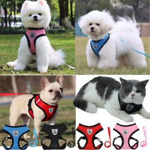 Dog Harness Cat Leashes Pet Walking Soft Vest Puppy Leash Chest Strap Relective