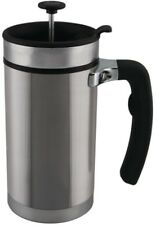 Desk Press 3-Cup Coffee French Press Stainless Steel Double-Walled Travel Mug