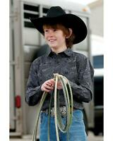 MTW7060213 Cinch Boys/' Green Geo Print Long Sleeve Western Shirt
