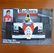AYRTON SENNA Brazil Marlboro Mclaren-Honda original poster