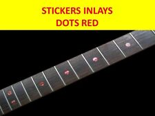 STICKERS INLAY GUITAR DOTS ABALONE RED VISIT OUR STORE WITH MANY MORE MODELS