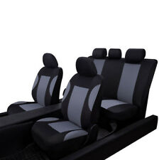 9 Pcs Universal Car SUV Seat Covers Set For Front+Rear Auto Seat Headrests Gray