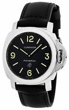 Panerai LUMINOR Base Logo Acciaio Black Dial Mens Watch PAM01000