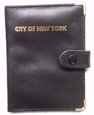 Wallet Vintage Leather Black NEW YORK ID CARD 1980s 1990s BI-FOLD