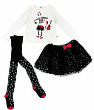 NWT Petit Lem Girls' Star Tulle Top, Skirt and Tights 3-PC Set ~ Size 2