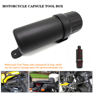 Motorcycle Tool Storage Tube Capsule Tool Box Case Bag Fit for BMW Honda O-ring