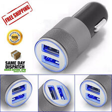2PC 2 Way Double USB Car Cigarette Lighter Adapter Power Socket Splitter Charger