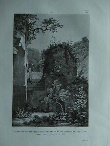 1845 Zuccagni-Orlandini Sepolcro di Virgilio sull'Ingresso Grotta di Posillipo
