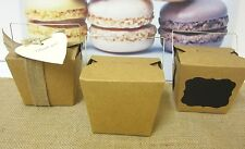 24x MEDIUM LARGE BROWN PAPER KRAFT CRAFT NOODLE BOXES LOLLY CANDY BAGS BOX 16oz
