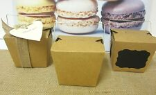 36x MEDIUM LARGE BROWN PAPER KRAFT CRAFT NOODLE BOXES LOLLY CANDY BAGS BOX 16oz