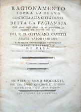 1762 – CAMETTI, RAGIONAMENTO SOPRA LA SELVA DETTA LA FAGIANAJA – PISA MEDICINA