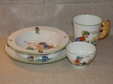 DELPHINE CHINA ENGLAND 4 PC VINTAGE CHILDS SET CHILDRENS DISHES