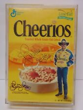 2000 RICHARD PETTY SIGNED AUTOGRAPHED NASCAR CHEERIOS BOX WITH COA DISPLAY CASE
