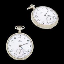 Old 1923 Omega 15J Open Face Pocket Watch Runs Estate Item
