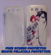 Pellicola+custodia BACK COVER DONNA TATUATA per Samsung I9300 Galaxy S III