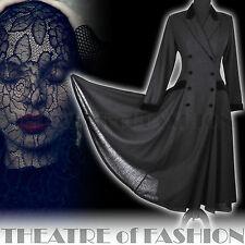 VINTAGE LAURA ASHLEY RIDING COAT 12 10 DRESS VICTORIAN EDWARDIAN 40s MISTRESS