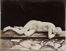 ITALIE ITALIA Morto trovato in Pompei nel 1873 Vintage Albumine, ca 1875