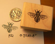 Honey Bee rubber stamp mini P22 tiny one