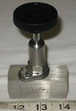 "Parker 1/2"" Stainless Steel Rising Stem Plug Valve Valve P/N 8F-PV8DE-V-SS"